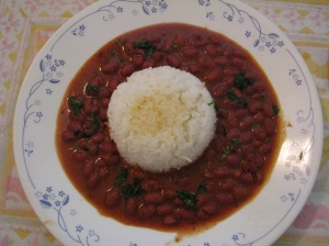 Rajma chawal with Ghee.